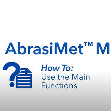 AbrasiMet M: How to Use Main Functions